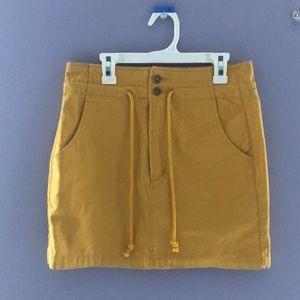 Sunshine yellow drawstring skirt.